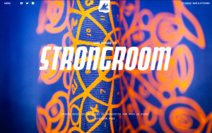A screenshot of the Strongroom website