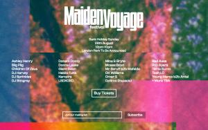 Screenshot of the Maiden Voyage Festival website