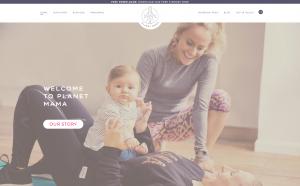 Screenshot of the Planet Mama website