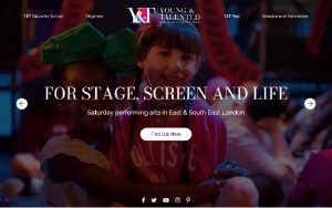 Screenshot of the Young & Talented website